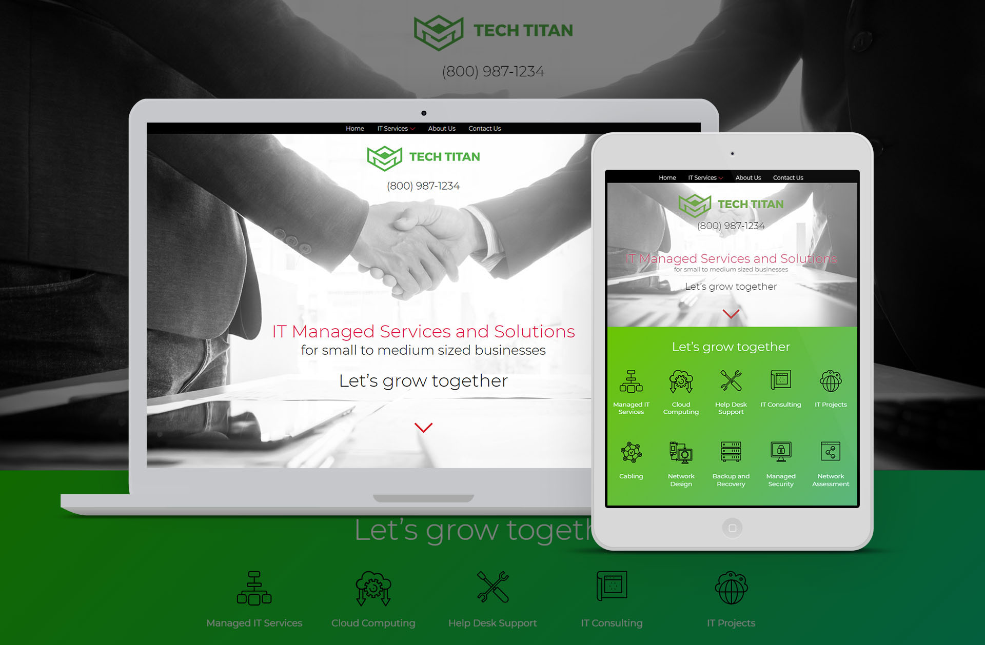 Tech Titan - It managed Services - Upspace media